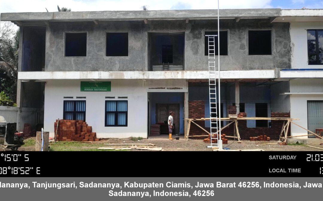 Desa Tanjungsari Laksanakan Kegiatan Renovasi Kantor Desa dari BANPROV TA. 2020