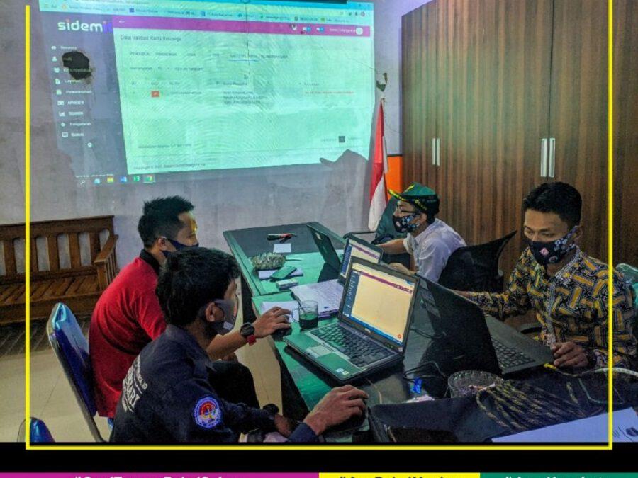 Kepala Wilayah lakukan Validasi Data Penduduk menggunakan SID