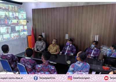 Pemdes Tanjungsari saksikan Live Streaming Pidato Bupati Ciamis