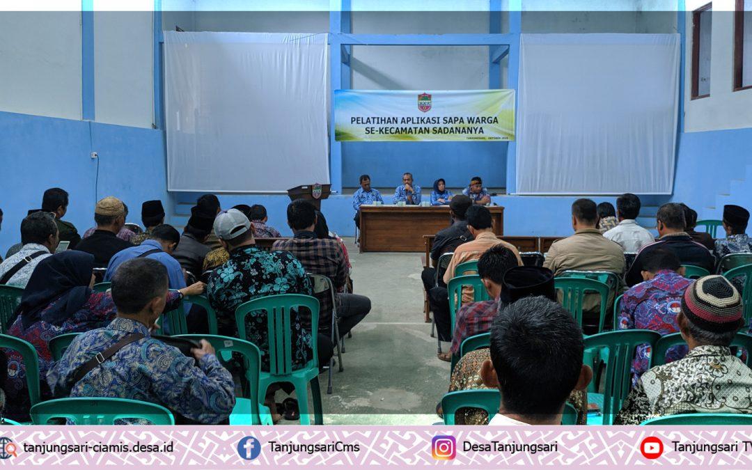 Ketua RW se-Kecamatan Sadananya ikuti Pelatihan Aplikasi Sapawarga